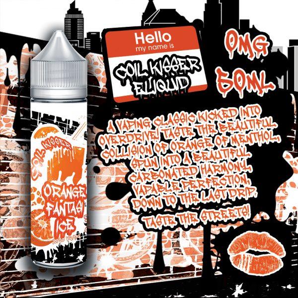 Coil Kisser Orange Fantasi Ice 50ml Bottle